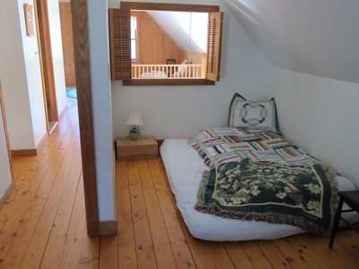 extra sleeping nook in west bedroom