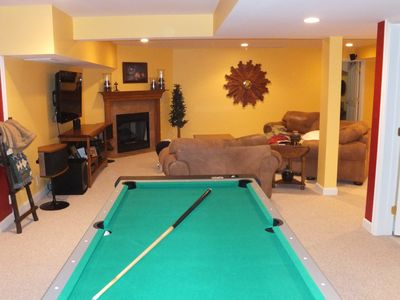 basement entertainment area-pool, air hockey, ping pong