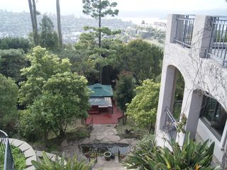 Tiburon house photo - Large level lawn back yard. Panoramic views over the SF bay and mountain ranges.