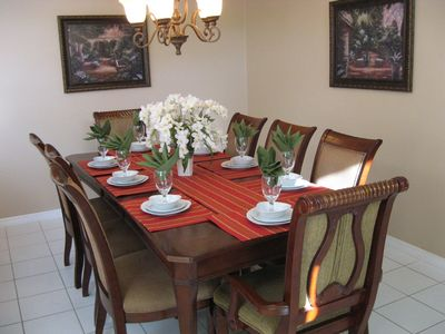 Dining table for 8 guests