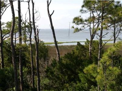 Gorgeous view of the Apalachicola Bay from the 2nd floor balcony.