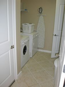 View of the large laundry room