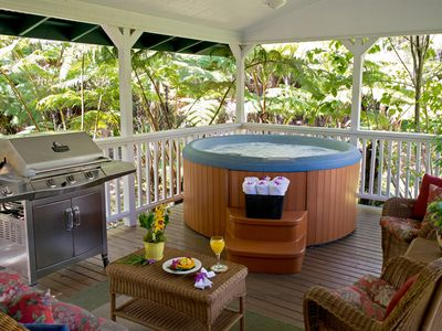 Relax in the Hot Tub, Enjoy the Views From the Covered Lanai in the Forest