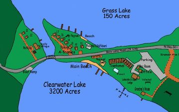 Map of the Condo Location Between Clearwater and Grass Lake