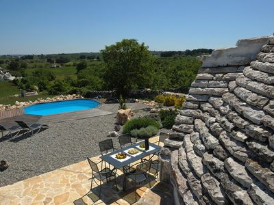 Trulli roof with the view