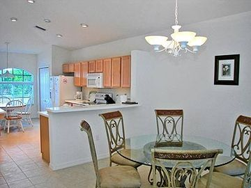 Dining areas and spacious kitchen