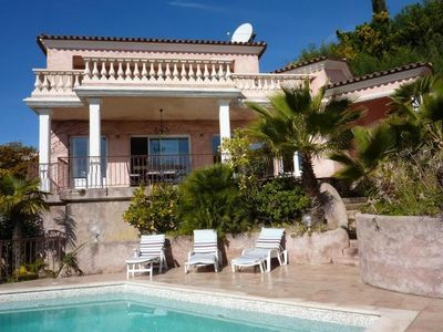Cannes and close to golf, house with pool and sea beautiful view