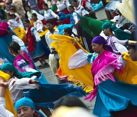 Lago San Pablo villa photo - Colourful culture! In our area of Otavalo the population is mostly indigenous.