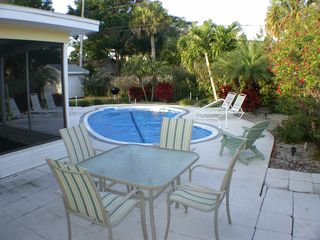 Clearwater Beach house photo - Outside patio with pool covered in off season