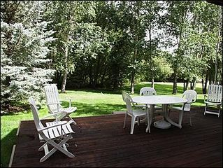 Snowmass Village townhome photo - Quiet, Serene backyard