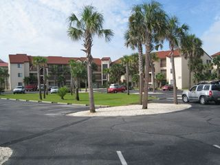 Navarre Beach condo photo - View Of Resort Condo from Parking Lot