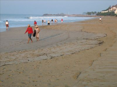 Take a morning walk or jog right on the beach in front of our place