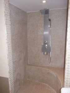 Brand new walk-in shower