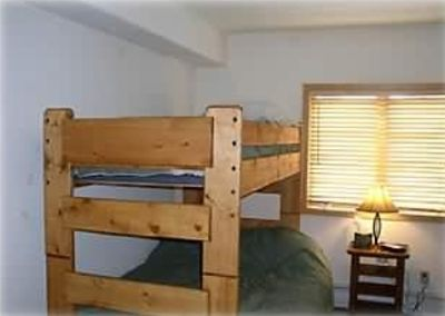 Bedroom 2 has 2 Full Beds plus 2 Twin Bunks