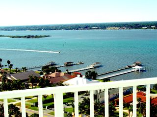 Daytona Beach Shores condo photo - View from Guest bedroom balcony! Breathtaking views!