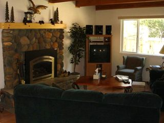 Family Room with sofa-bed, Cable TV, DVR, DVD, Stereo-CD and Gas Rock Fireplace