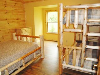 Burt Lake cabin photo - Second bedroom with double and twin bunk beds a dream room for the kids...