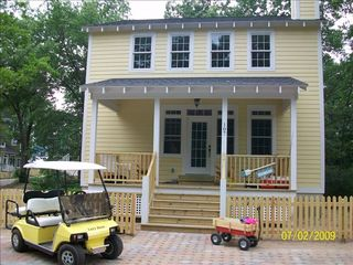 Michigan City house photo - Front of House/Golf Cart/Beach Wagon
