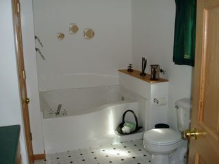 Hayward house photo - Master Bath with over-sized tub. Walk-in shower behind door!