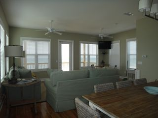 Mexico Beach house photo - Living area looking toward gulf