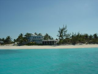 Great Exuma villa photo - Bougainvillea House form the sea