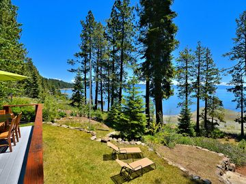 Lake Forest house rental - Deck and View - The pièce de résistance, our sprawling back deck with endless Lake Tahoe views.