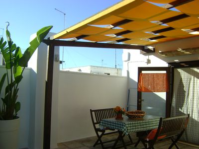 Lovely Apulian traditional house in the centre with terrace, near sea
