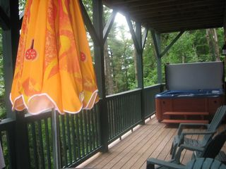Boone cabin photo - Enjoy the tranquility on your private balcony surrounded by nature