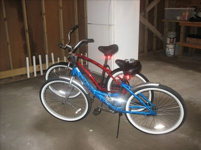 2 adult beach bikes in excellent shape with comfy seats for you to enjoy