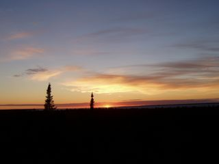 Cheboygan lodge photo - Sunset in the Straits... time for Happy Hour!