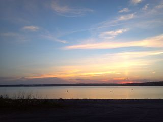Bar Harbor townhome photo - Sunset at Hadley Pt. Beach, 8 minutes away.