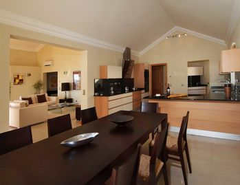 Kitchen & Dining Room Leading to Lounge & Balcony