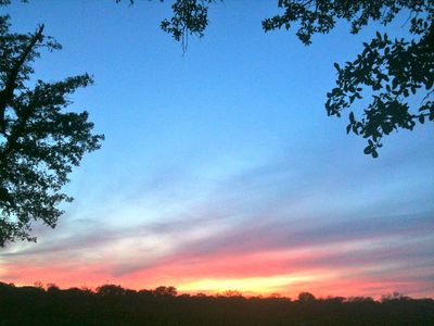 Spicewood cottage rental - Gorgeous sunsets overlooking the lake