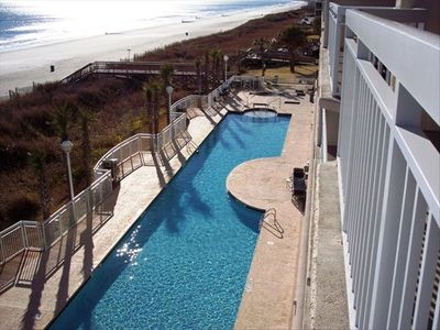 Crescent Beach condo rental - Crescent Shores Pool View from balcony