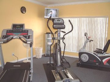 Fitness room in the club house FREE of use