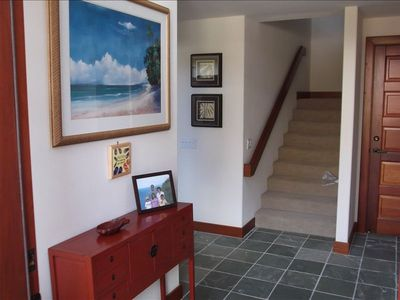 Mauna Lani townhome rental - Front entrance/foyer
