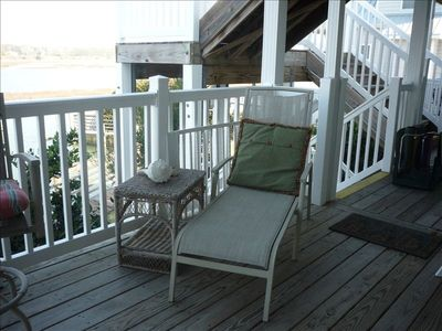 Covered deck overlooking IntraCoastal Waterway