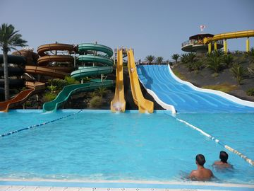 Water slides about 40 mins away