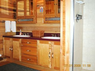 Pipestem cabin photo - Master bath with shower