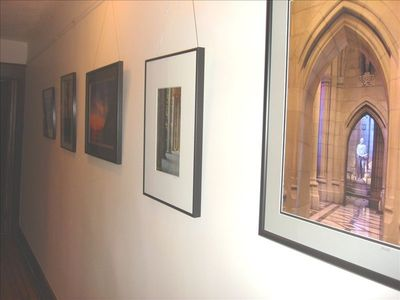 Hall gallery of local art. (Displaying photos by John Kuhn, Middletown, MD.)