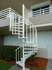 Somerset condo photo - Staircase from our lanai to cabana