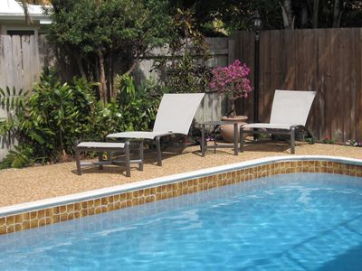 Lauderdale-by-the-Sea house rental - Heated Pool with Chaise Lounge for Sun Bathing.