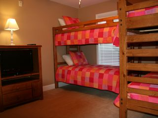 Crescent Beach villa photo - One of our upstairs bunkbed rooms with flat screen tv.
