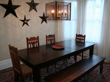 San Francisco apartment rental - Formal dining room at front of apartment with bay window and seating up to 7