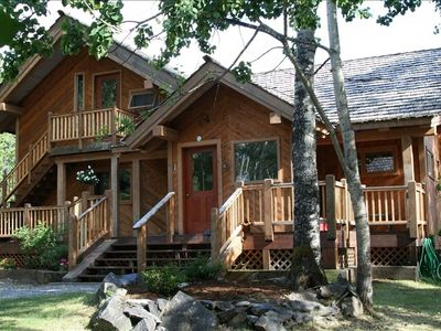 Welcome to your Alaskan home-away-from-home! This is the Chalet entrance.