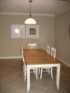 Large dining room seating as well.