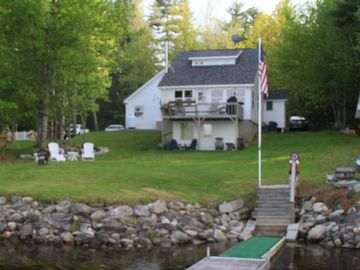 Clifton cottage rental - View of cottage from dock
