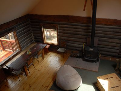 Nederland lodge rental - Dining Area from Upper Level