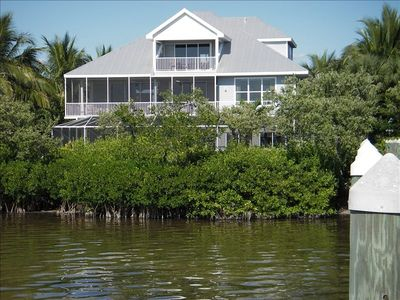 House as viewed from our fishing pier.