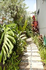 Hauula house photo - Tropical garden entry to Hale Moana Mele